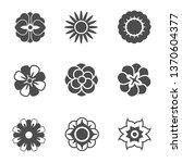 flower silhoutte icons...   Shutterstock .eps vector #1370604377