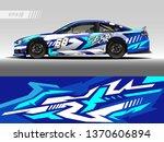 race car wrap design vector.... | Shutterstock .eps vector #1370606894