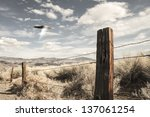 ufo spaceship in the high... | Shutterstock . vector #137061254