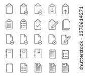 clipboard line icons collection   Shutterstock .eps vector #1370614271