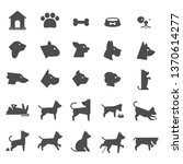 Stock vector dog pet icons 1370614277