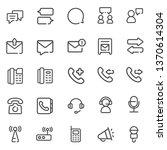 communication line icons   Shutterstock .eps vector #1370614304