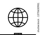 globe icon vector illustration...