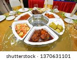 lemang  nasi himpit and chicken ... | Shutterstock . vector #1370631101