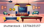 recreation room for leisure in... | Shutterstock .eps vector #1370635157