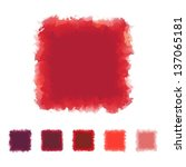 set of red tone watercolor... | Shutterstock .eps vector #137065181