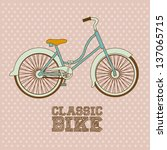 illustration of bicycle  riding ... | Shutterstock .eps vector #137065715