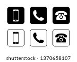 phone icon vector. call icon... | Shutterstock .eps vector #1370658107