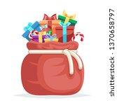 bag full gifts christmas new... | Shutterstock . vector #1370658797