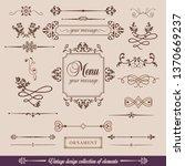 vintage design elements | Shutterstock .eps vector #1370669237