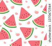 watermelon seamless pattern... | Shutterstock .eps vector #1370672564
