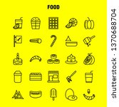 food  line icons set for...