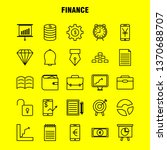 finance line icons set for...