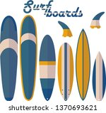 surf boards and fins shapes... | Shutterstock .eps vector #1370693621