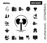medical  solid glyph icons set...