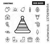 christmas line icons set for...