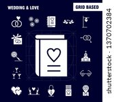 wedding and love solid glyph...