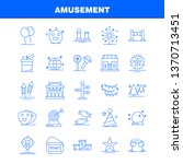 amusement line icon for web ...