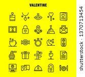 valentine line icon pack for... | Shutterstock .eps vector #1370713454
