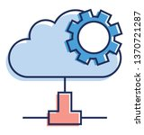cloud management icon in flat... | Shutterstock .eps vector #1370721287