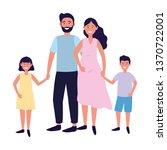 couple with children | Shutterstock .eps vector #1370722001