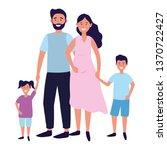 couple with children | Shutterstock .eps vector #1370722427