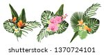 tropical plants  philodendron... | Shutterstock .eps vector #1370724101