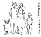 couple with children   Shutterstock .eps vector #1370728571