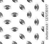 eye icon seamless pattern...   Shutterstock .eps vector #1370730197