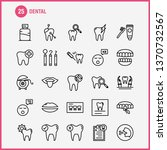 dental line icons set for... | Shutterstock .eps vector #1370732567