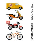 delivery service vehicles | Shutterstock .eps vector #1370739467