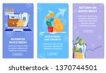 business investment and growth...   Shutterstock .eps vector #1370744501