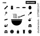 food solid glyph icons set for...
