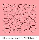 speech bubbles and arrows drawn ... | Shutterstock .eps vector #1370801621