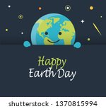 happy earth day card or... | Shutterstock .eps vector #1370815994