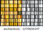 realistic yellow and silver... | Shutterstock .eps vector #1370834147