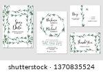 set of wedding invitation... | Shutterstock .eps vector #1370835524
