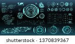 hud futuristic virtual graphic...