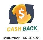 cash back symbol. currency... | Shutterstock .eps vector #1370876654