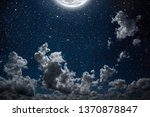backgrounds night sky with... | Shutterstock . vector #1370878847