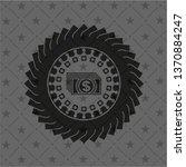 money icon inside dark emblem.... | Shutterstock .eps vector #1370884247
