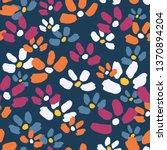 cute flower pattern. endless...   Shutterstock .eps vector #1370894204