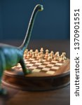 an abstract chess game with a...   Shutterstock . vector #1370901551
