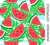 vector watermelon background...   Shutterstock .eps vector #1370902511