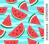 vector watermelon background... | Shutterstock .eps vector #1370902544