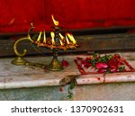 a ritual with candles and... | Shutterstock . vector #1370902631