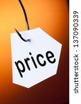 price word on hook | Shutterstock . vector #137090339