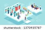 isometric vector of people men... | Shutterstock .eps vector #1370935787