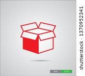 box icon  in modern linear... | Shutterstock .eps vector #1370952341