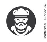 chef in a cook hat silhouette... | Shutterstock . vector #1370954057